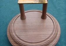 Walnut clock base